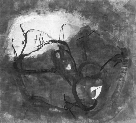 Gao Xingjian, L'allucinazione, 1983, inchiostro di china