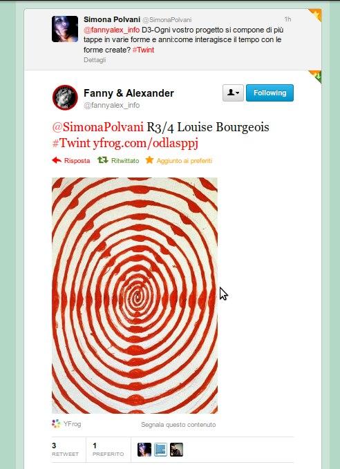 Tweet R3/4 Louise Bourgeois