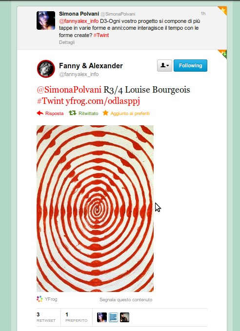 Tweet R3/4 Louise Bourgeois