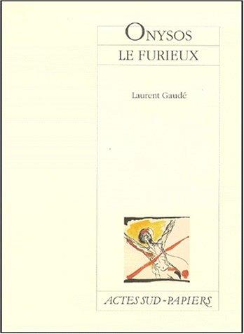 """Cover della pièce """"Onysos le furieux """" pubblicata in Francia"""