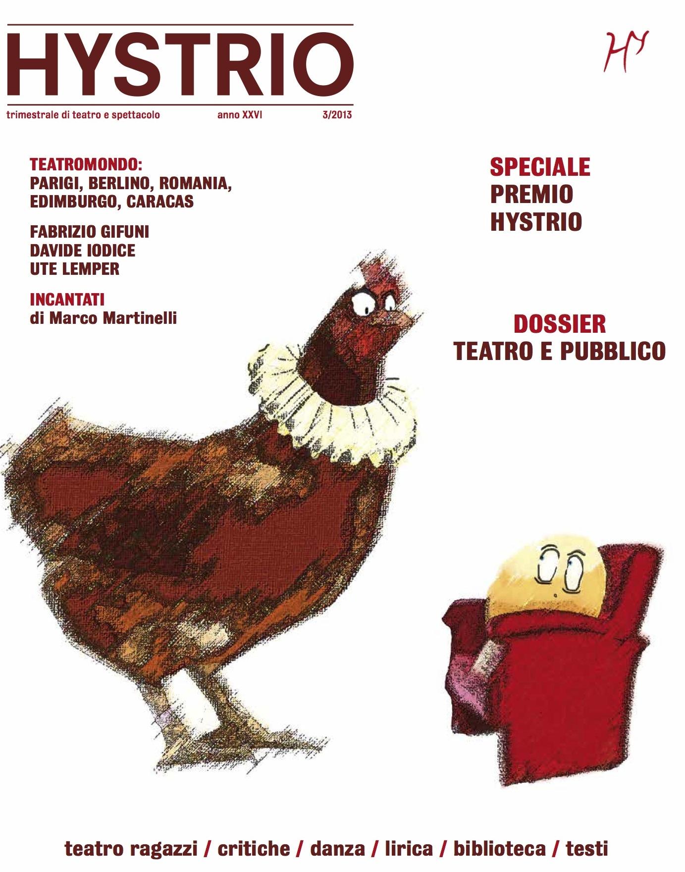 Cover Hystrio, numero luglio-settembre