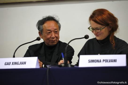 Gao Xingjian e Simona Polvani, 2011.